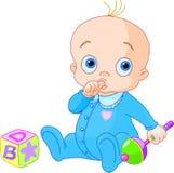 Zoete babyjongen Stock Foto