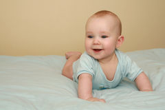 Zoete babyjongen Stock Afbeeldingen