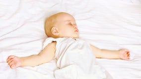 Zoete babyslaap Stock Fotografie