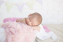 Zoete babyslaap Royalty-vrije Stock Afbeeldingen