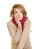 Zoete Blonde Vrouw Stock Foto