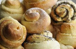 Zoete broodjes met papaverzaden Royalty-vrije Stock Afbeelding