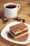 Zoete cake en koffie Stock Afbeeldingen