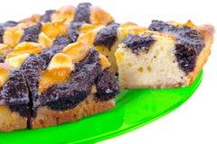 Zoete cake op een plaat Royalty-vrije Stock Afbeelding