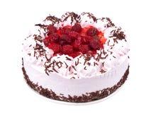 Zoete cake op plaat Stock Afbeelding