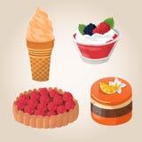 Zoete cakes Stock Foto's