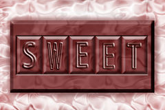 Zoete chocolade Stock Foto's