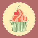 Zoete cupcake Stock Afbeeldingen