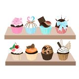 zoete cupcake Royalty-vrije Stock Afbeeldingen