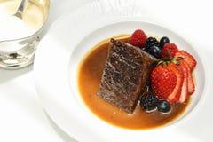 Zoete dessertbovenkant met bessen, Organisch vers fruit royalty-vrije stock afbeelding