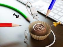 Zoete e-mail Stock Foto's