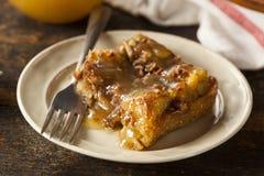 Zoete Eigengemaakte Broodpudding Stock Foto