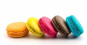Zoete en kleurrijke Franse makarons of macaron, Dessert stock fotografie