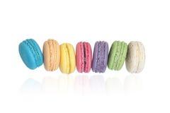 Zoete en kleurrijke makarons Stock Fotografie