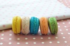 Zoete en kleurrijke makarons Stock Foto