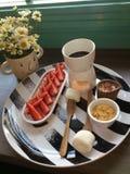 Zoete fondue Stock Afbeeldingen