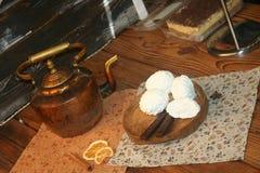 Zoete gastronomische vreugde van gebakje royalty-vrije stock afbeelding