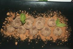 Zoete gastronomische vreugde van gebakje stock foto