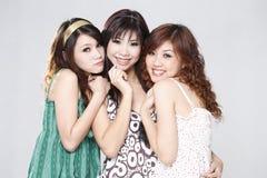 Zoete gelukkige meisjesvrienden Royalty-vrije Stock Fotografie