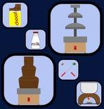 Zoete geplaatste gadgetspictogrammen Stock Foto