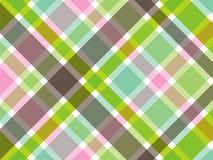 Zoete groene en roze plaid Stock Fotografie