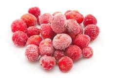 Zoete, heerlijke bevroren aardbeien Royalty-vrije Stock Afbeelding