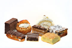 Zoete heerlijke cakes Royalty-vrije Stock Foto's