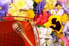 Zoete honing in bloemen 1 Stock Afbeeldingen