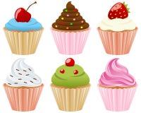 Zoete Inzameling Cupcakes Royalty-vrije Stock Foto