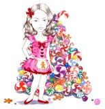 Zoete Kerstmisboom Stock Foto's