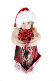 Zoete Kerstmisgift - reeks Stock Foto's
