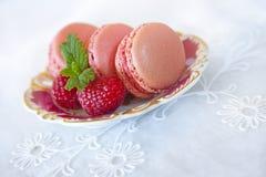 Zoete Macarons royalty-vrije stock foto's