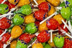 Zoete multi-colored suikergoedachtergrond royalty-vrije stock fotografie