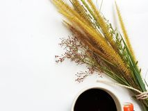 Zoete ochtend met koffie royalty-vrije stock fotografie