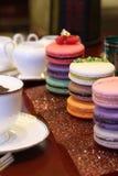 Zoete op smaak gebrachte Franse macarons Royalty-vrije Stock Foto