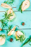 Zoete peer en rozemarijncocktail Royalty-vrije Stock Foto