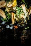 Zoete peer en rozemarijncocktail Stock Afbeeldingen