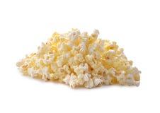 Zoete popcorn op een witte achtergrond stock foto