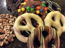 Zoete pretzels Stock Afbeelding