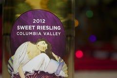 Zoete riesling-wijn Stock Foto