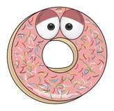 Zoete roze doughnut Royalty-vrije Stock Afbeeldingen