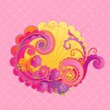 Zoete roze wervelingen. stock illustratie