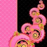 Zoete roze wervelingen. vector illustratie