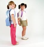 Zoete schoolmeisjes Stock Foto's
