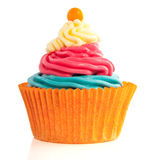 Zoete Sinaasappel Cupcake Stock Afbeelding