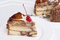 Zoete smakelijke verse torte Royalty-vrije Stock Afbeeldingen