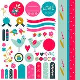 Zoete stickerinzameling Stock Fotografie