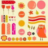 Zoete stickerinzameling Royalty-vrije Stock Foto