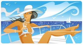 Zoete vakantie royalty-vrije illustratie