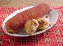 Zoete van de broodbrood en worst broodjes Royalty-vrije Stock Afbeelding